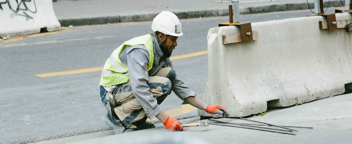 road worker at work